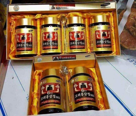 Cao hồng sâm 365 Hàn Quốc loại 4 lọ x 240g