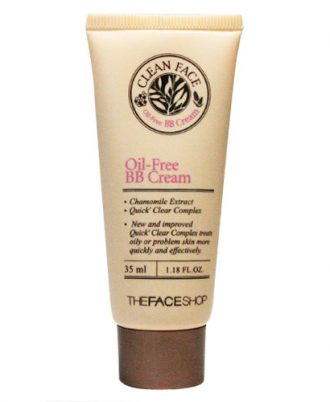 BB Cream dành cho da mụn – Clean face oil free BB The Faceshop