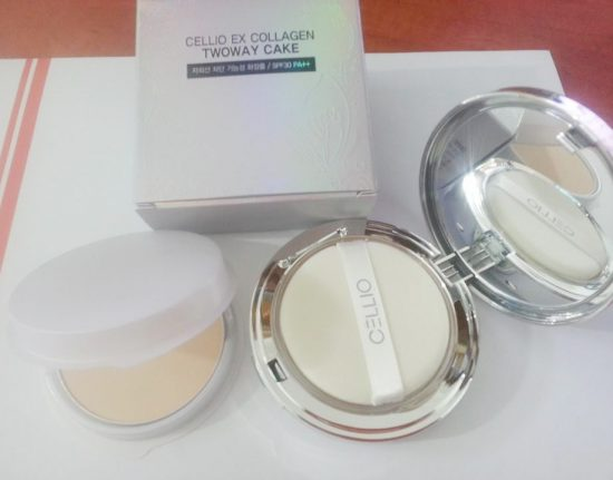 Phấn nén cellio ex collagen twoway cake