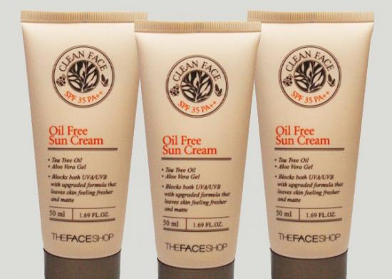 Kem chống nắng cho da dầu Oil Free Sun Cream The Face Shop