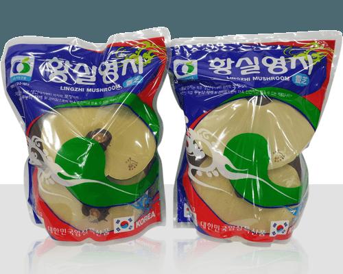 Nấm linh chi Hàn Quốc bao màu xanh