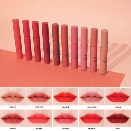 Son kem lì 3CE Velvet Lip Tint – Hàn Quốc