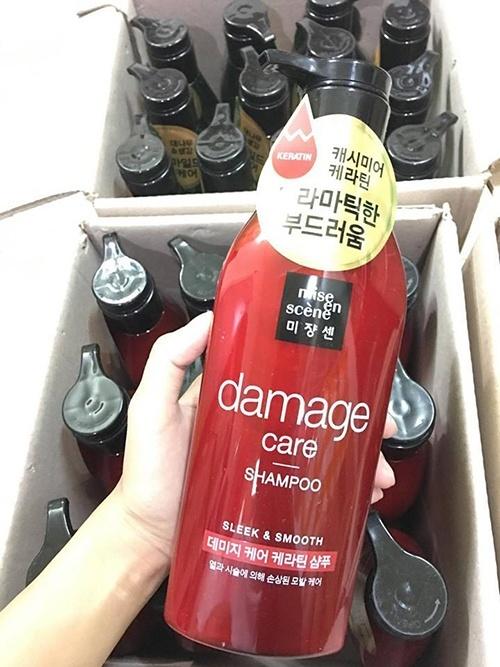 Dầu Gội Cho Tóc Hư Tổn (Đỏ) Mise En Scene Damage Care Shampoo 680ml